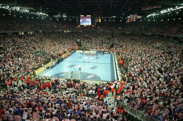 Finale der Handball-Weltmeisterschaft 2009: Goliath - Kroatien (Michael Panse)