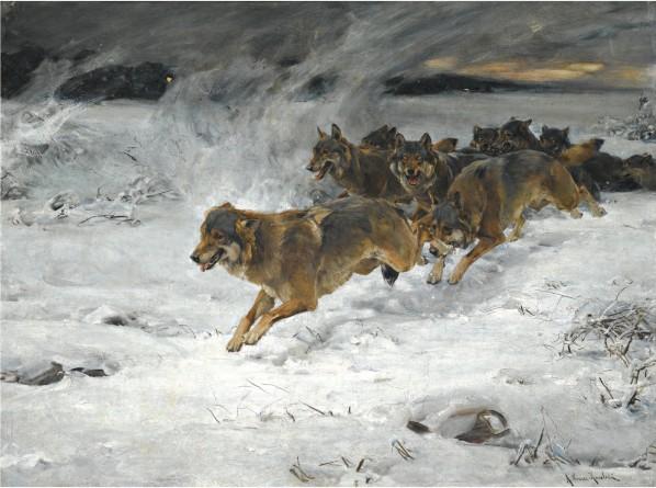 Alfred Kowalski Wierusz - Wolfsrudel