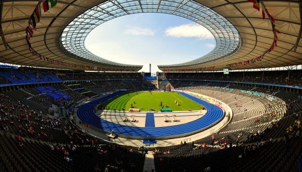 Berliner Olympiastadion während der Leichtathletik-WM 2009 (Tobi87)